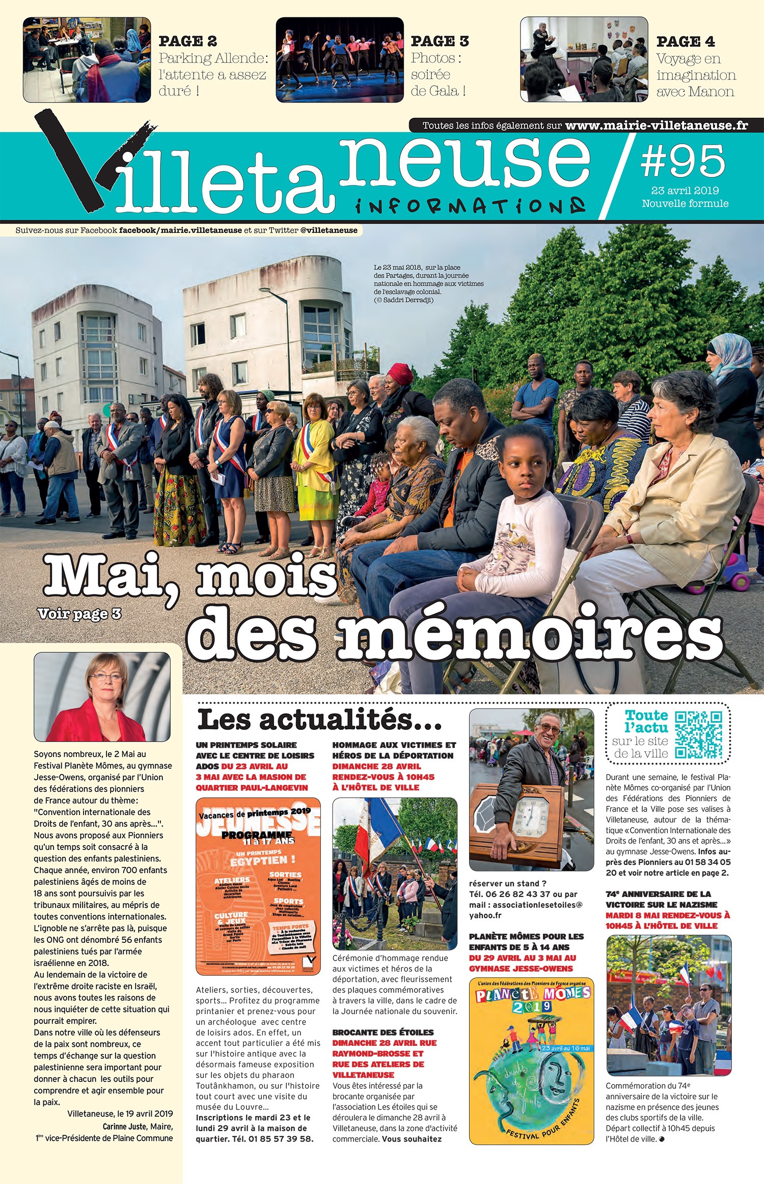Villetaneuse informations N°95 du 23 avril 2019