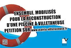 Ensemble, mobilisés pour la reconstruction d&aposune piscine à Villetaneuse