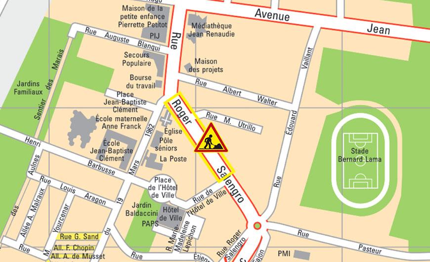 Circulation alternée sur une partie de la rue Roger-Salengro
