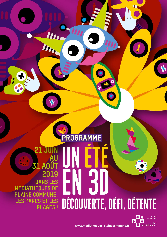 programme de l&aposété 2019 avec les madiathèques de Plaine Commune
