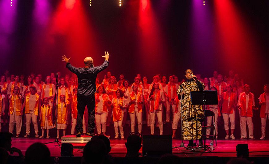 concert Gospel avec Helena Recalde et la chorale Singa, sous la direction de Jean Carpenter