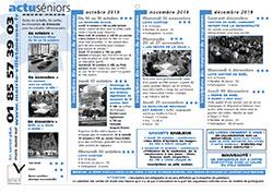 Programme Actu-senior d&aposoctobre à édcembre 2019
