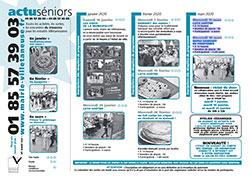 Programme Actu-senior de janvier à mars 2020