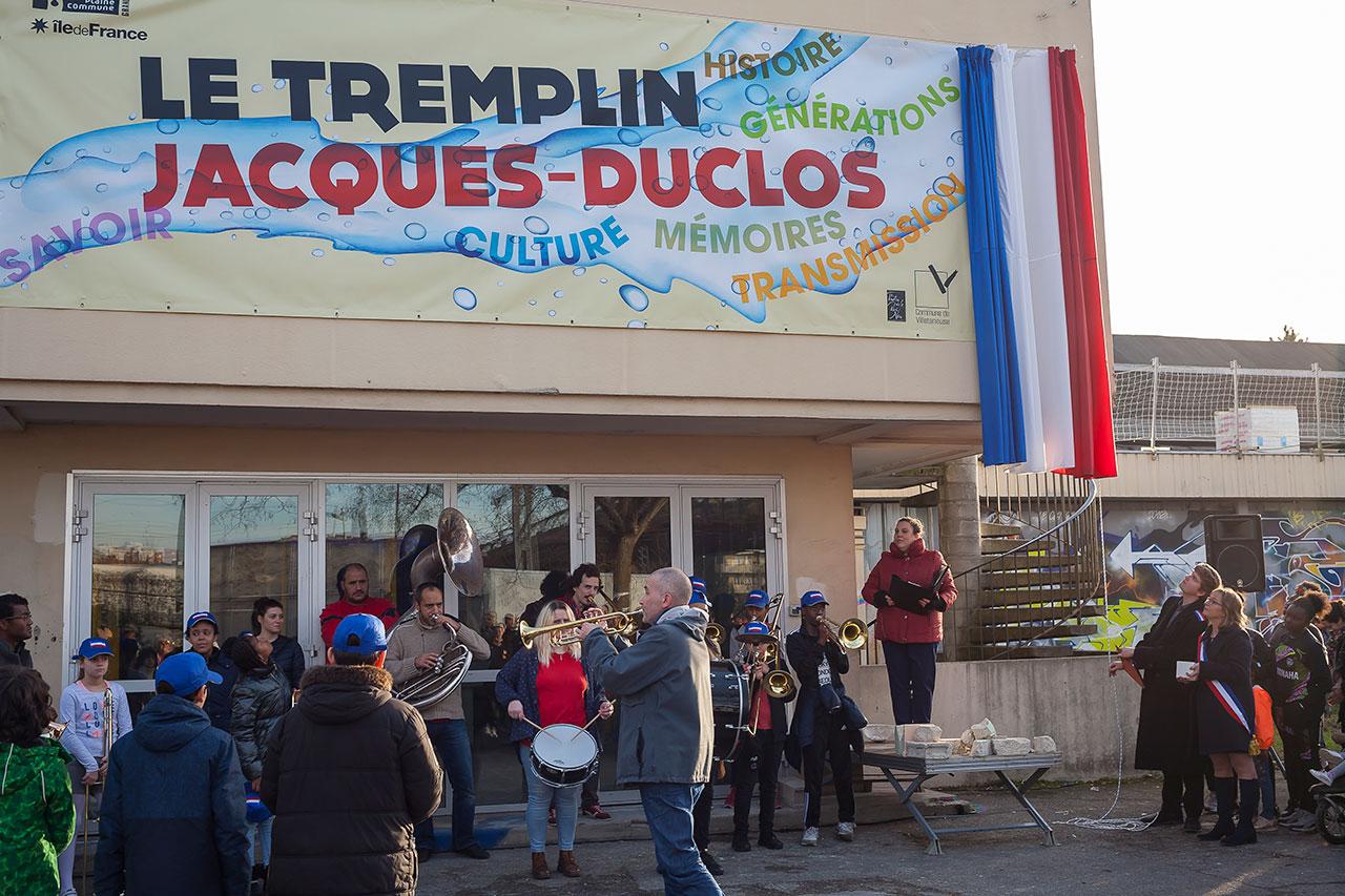 Baptème républicain du Tremplin Jacques-Duclos par Carine Juste