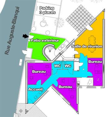 Plan des locaux.